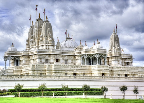White and Gray Temple during Cloudy Sky Daytime