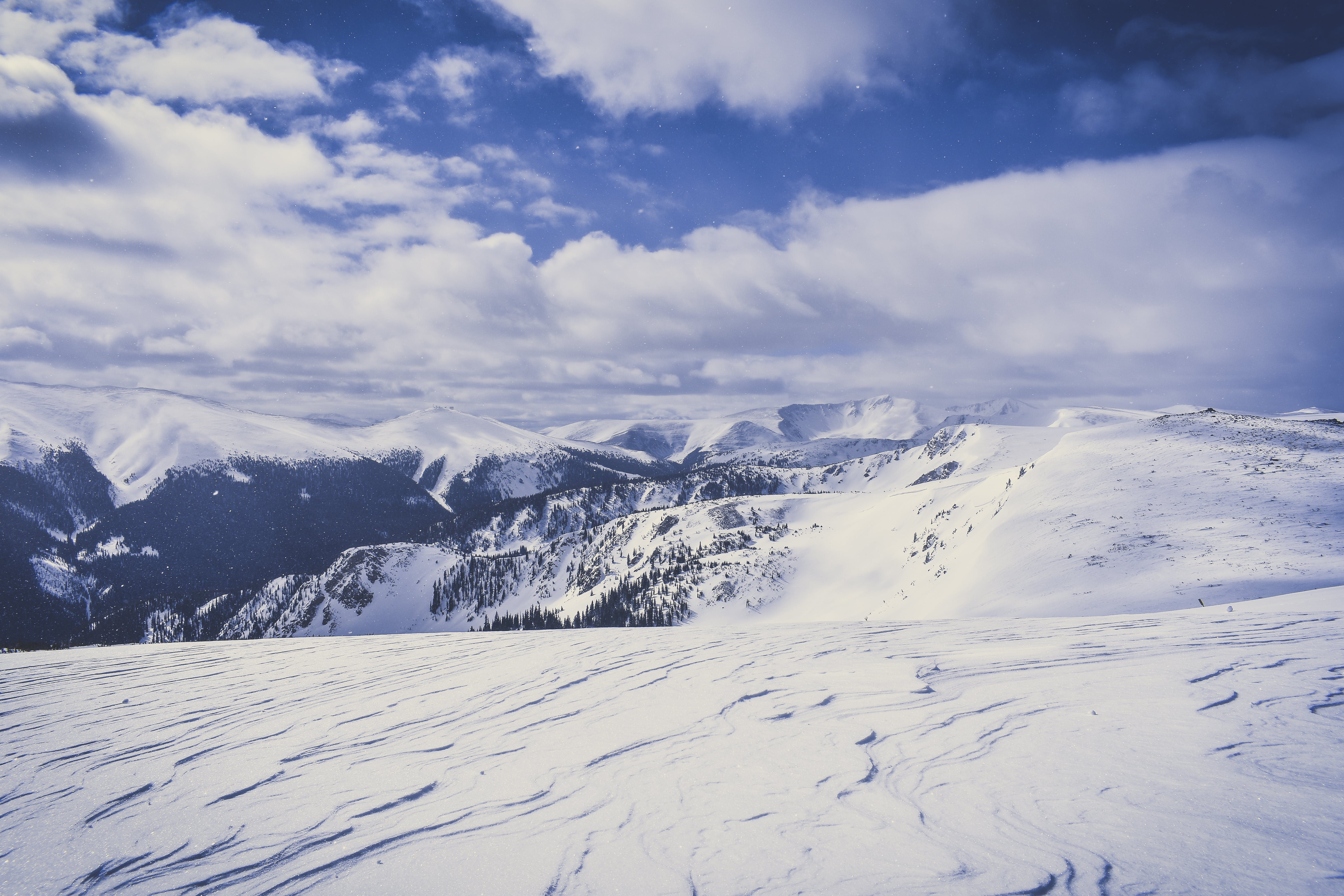 Snow Covered Mountain Ranges