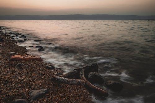 Ilmainen kuvapankkikuva tunnisteilla auringonlasku, auringonlaskun ranta, Jordan, kuollut meri