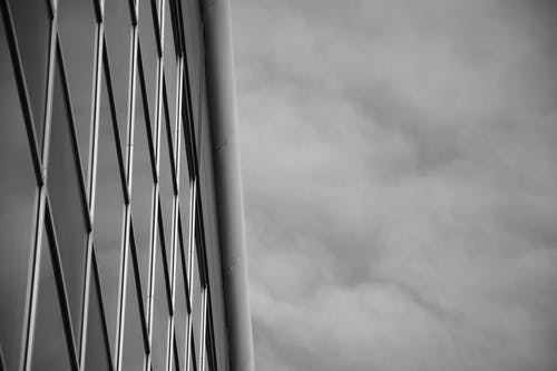 Mirror Building in Grayscale Photo