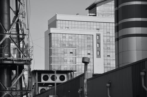 Ingyenes stockfotó ablakok, acél, design, ég témában