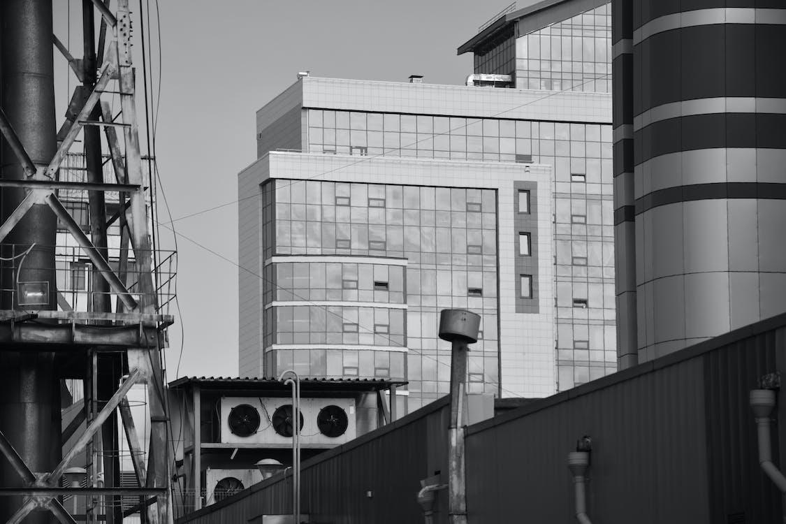 alb-negru, arhitectură, arhitectură modernă