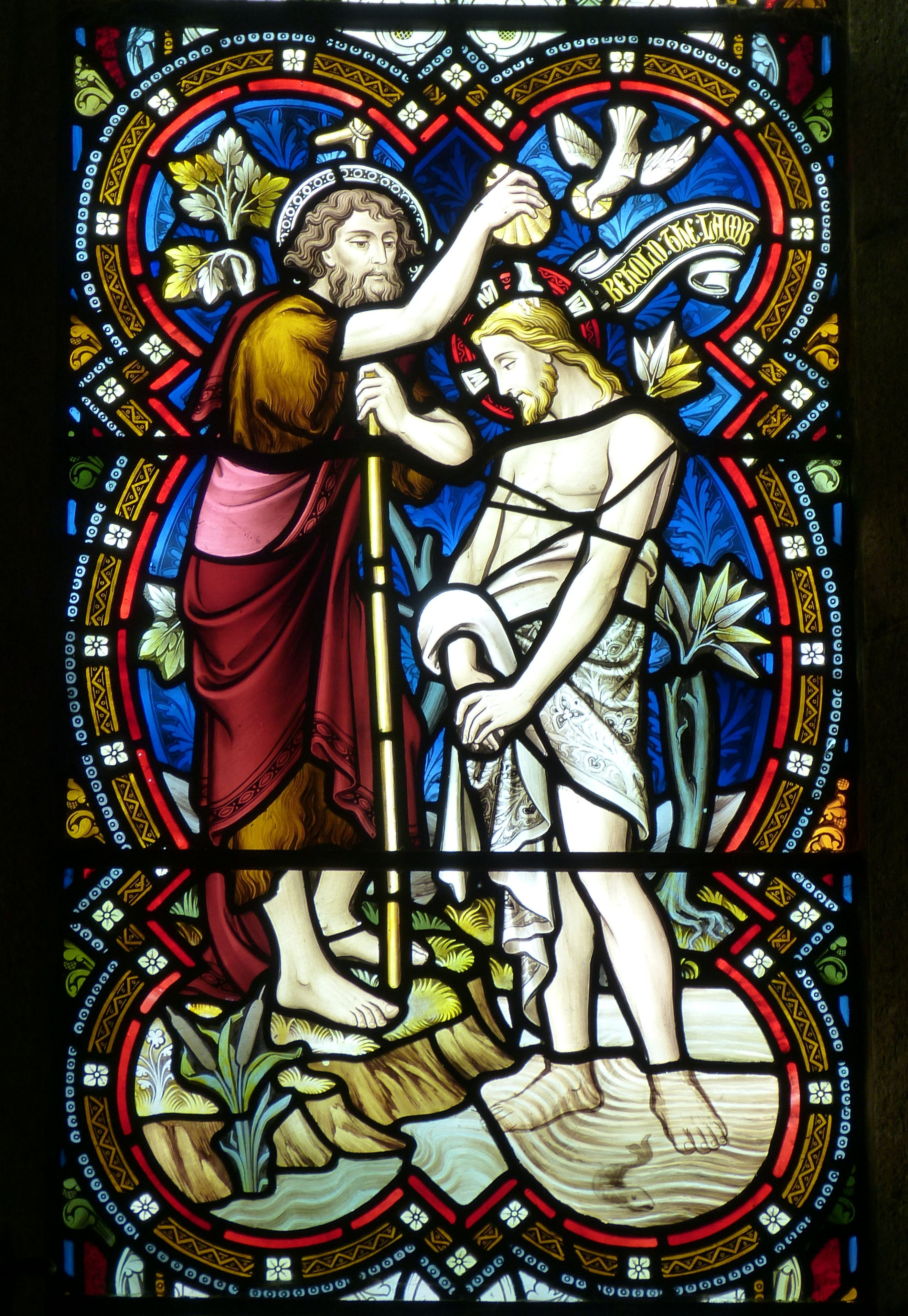 Baptism of Jesus Christ Stained Glass