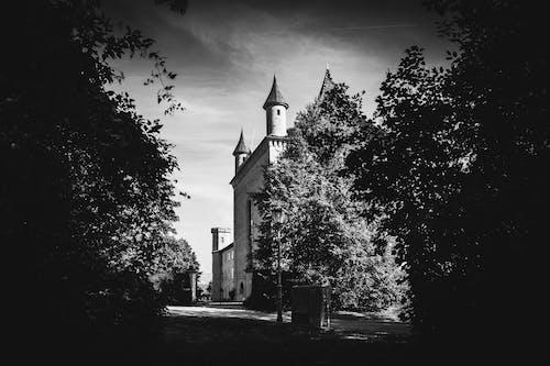 Kostnadsfri bild av b & w, hdr, slott, svartvitt