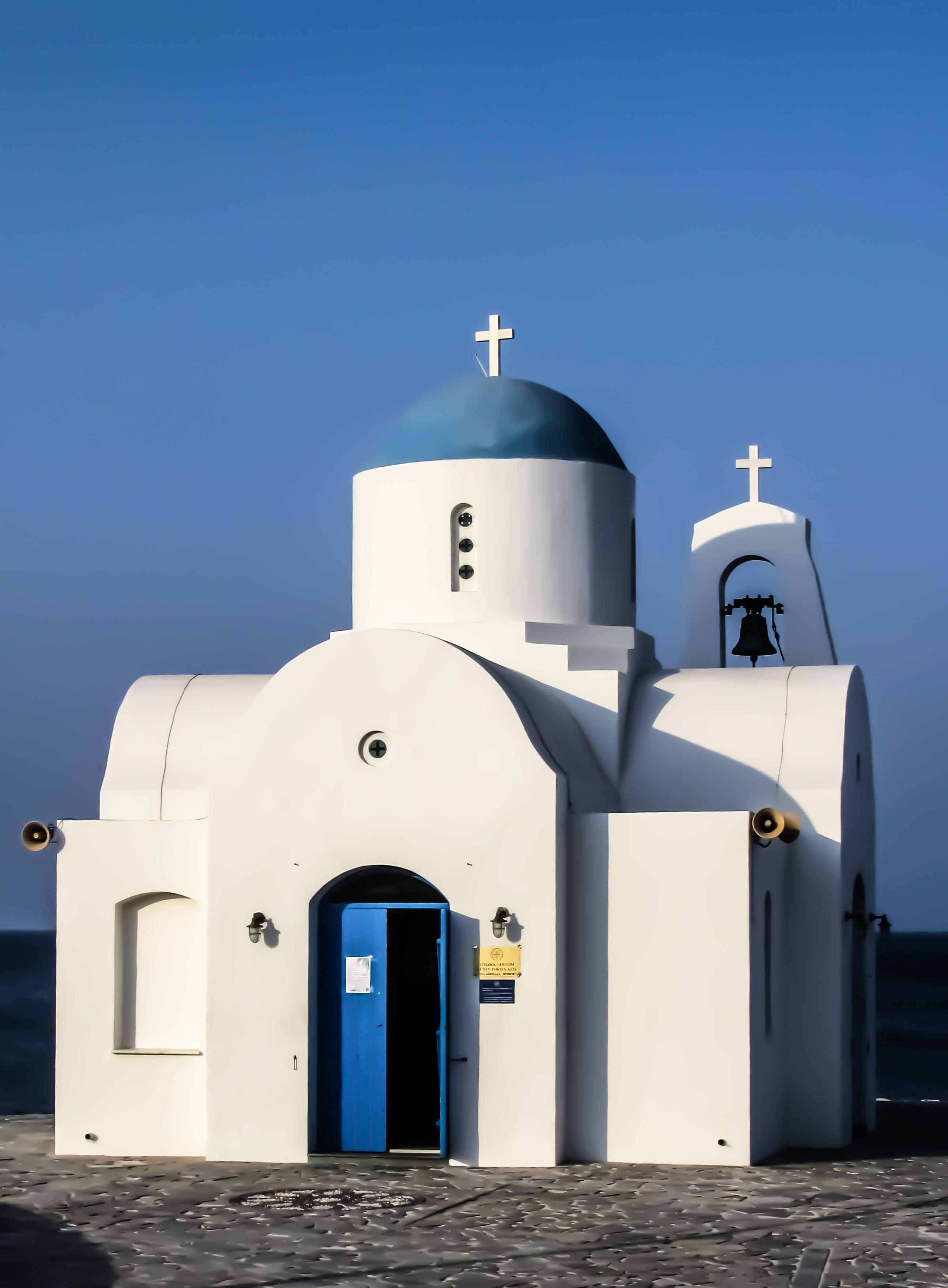 White and Blue Church