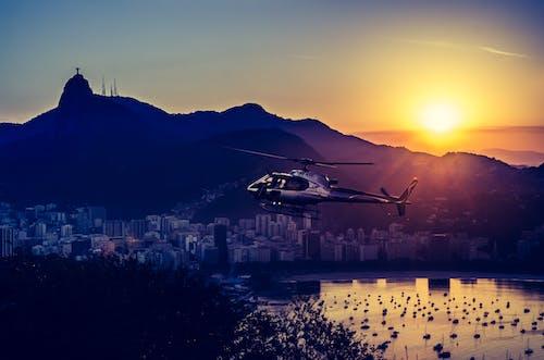 シティ, 反射, 夕方, 夜明けの無料の写真素材