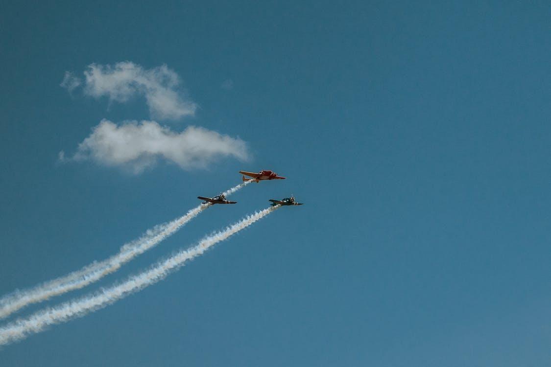 Бесплатное стоковое фото с Военно-воздушные силы, самолет, самолеты