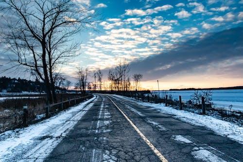 겨울, 구름, 눈, 도로의 무료 스톡 사진