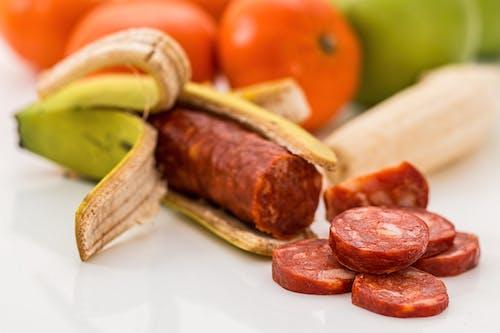คลังภาพถ่ายฟรี ของ banting, chorizo, กล้วย, การกิน