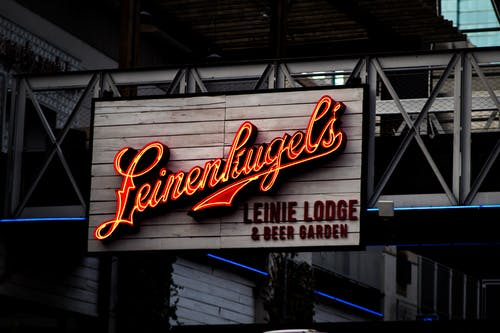 Leinenkugel's Leinie Lodge & Beer Garden Signage Turned on