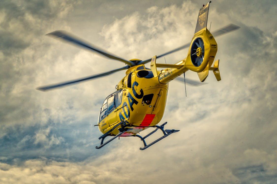 adac, chmury, helikopter ratowniczy