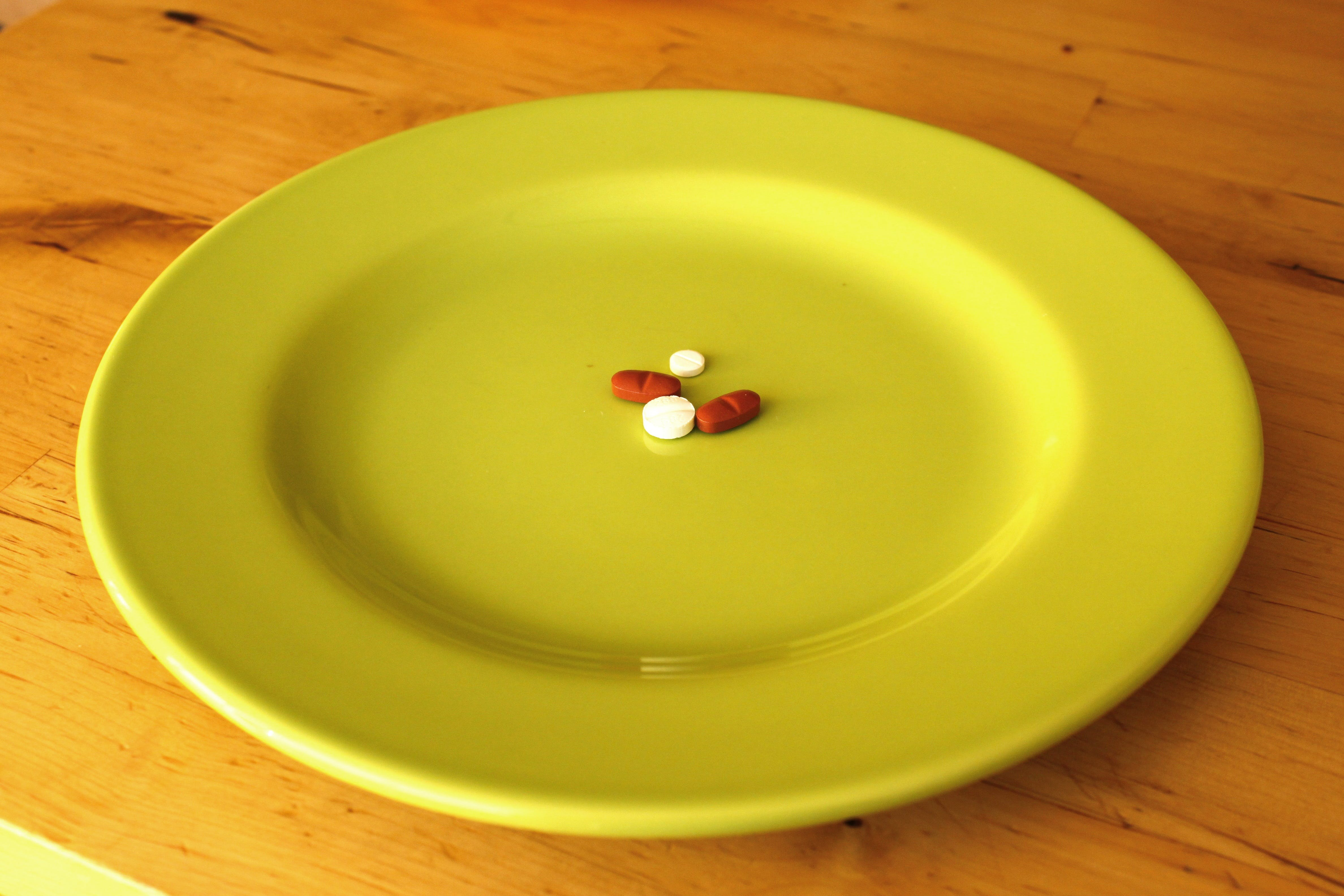 Free stock photo of plate, table, health, medicine