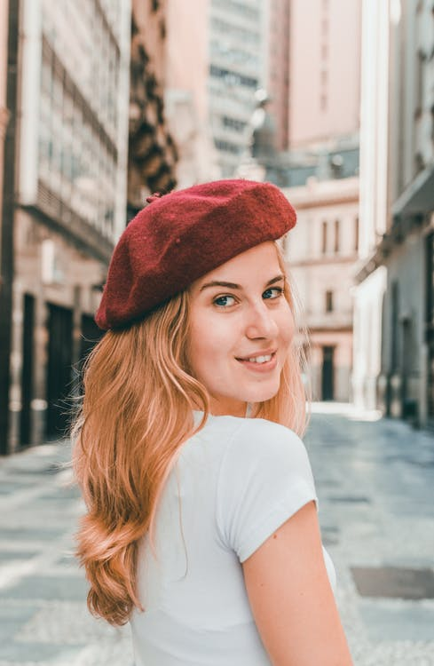 Photo of Woman Wearing Red Hat
