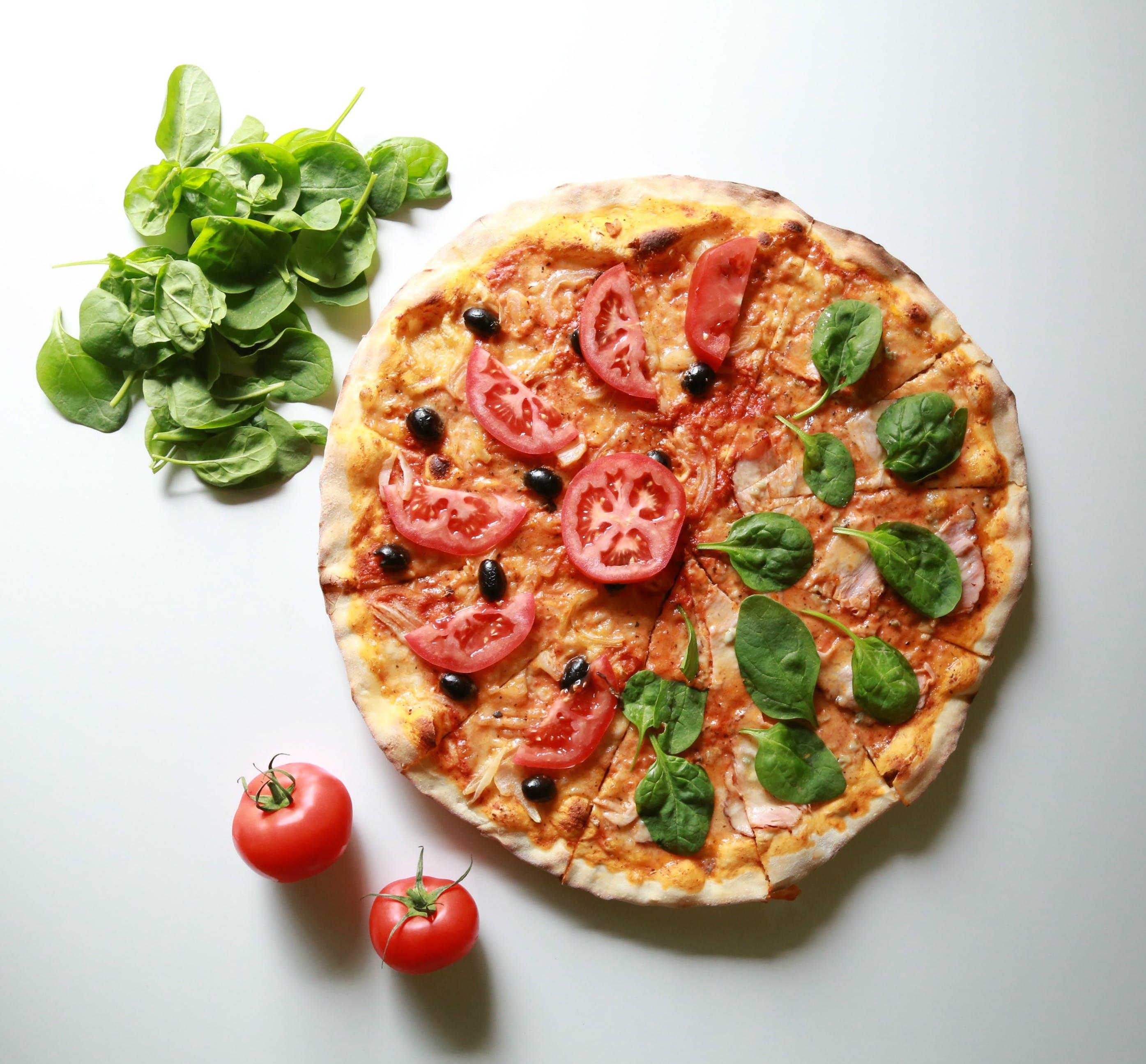 γεύμα, κρούστα, πίτσα