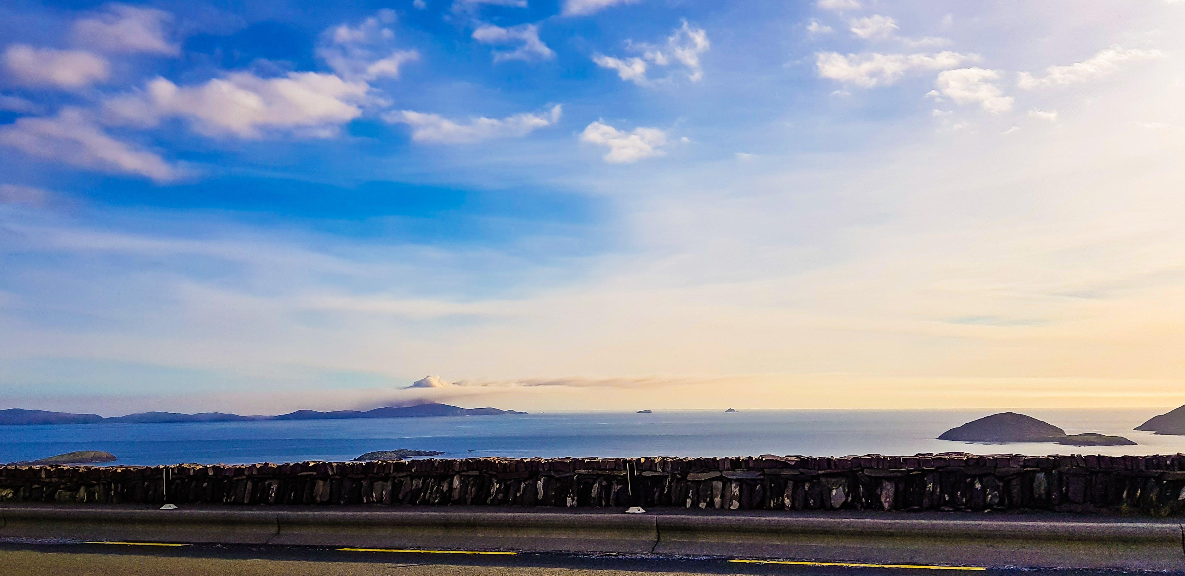 Free stock photo of atlantic ocean, beach, Blue ocean, blue sky