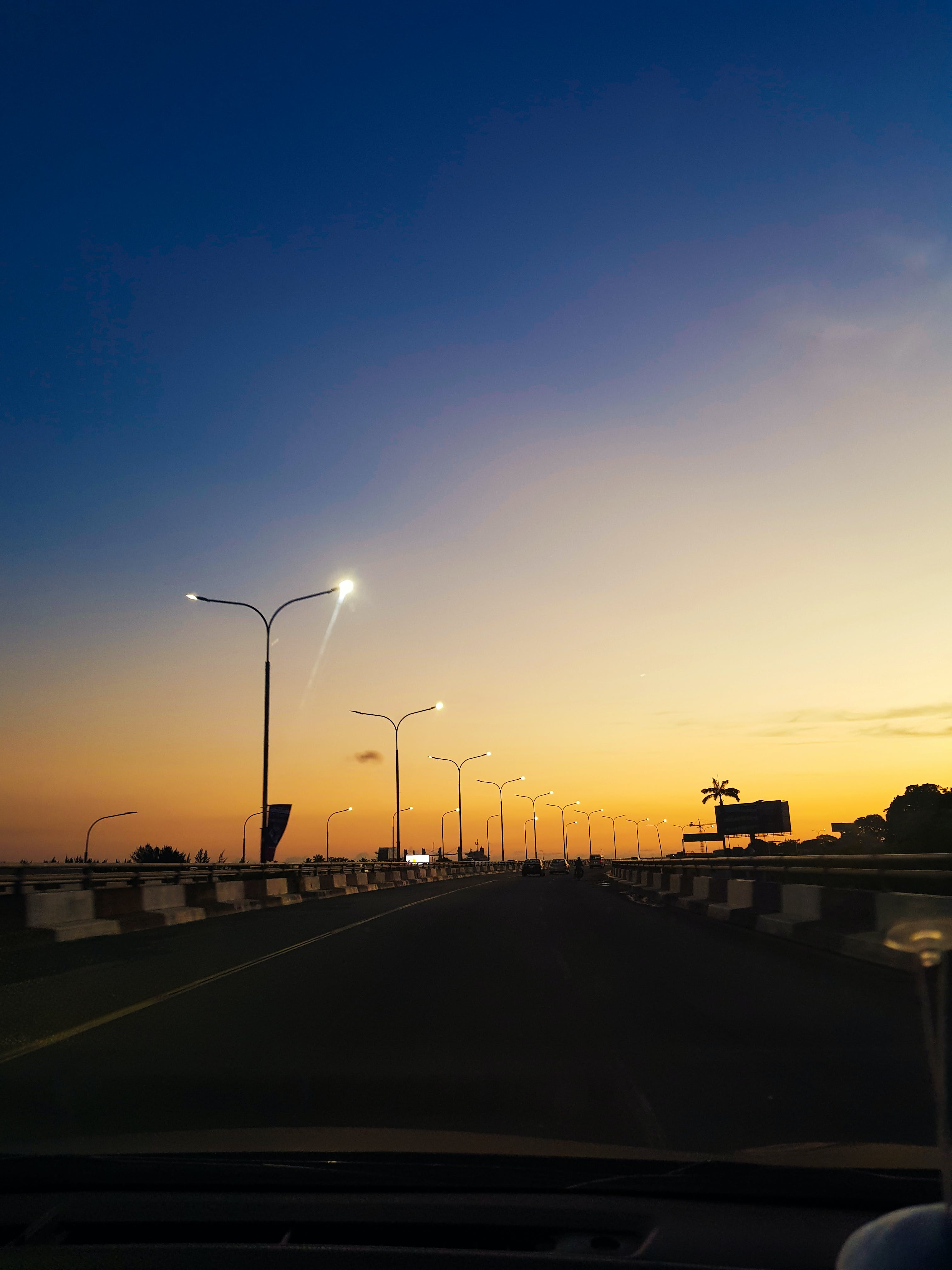 Free stock photo of blue, blue sky, road, sunset