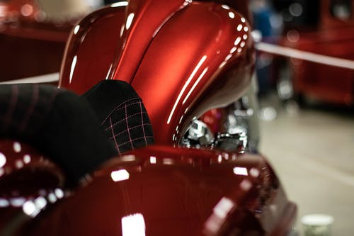 Free stock photo of chopper, custom, motorcycle, red