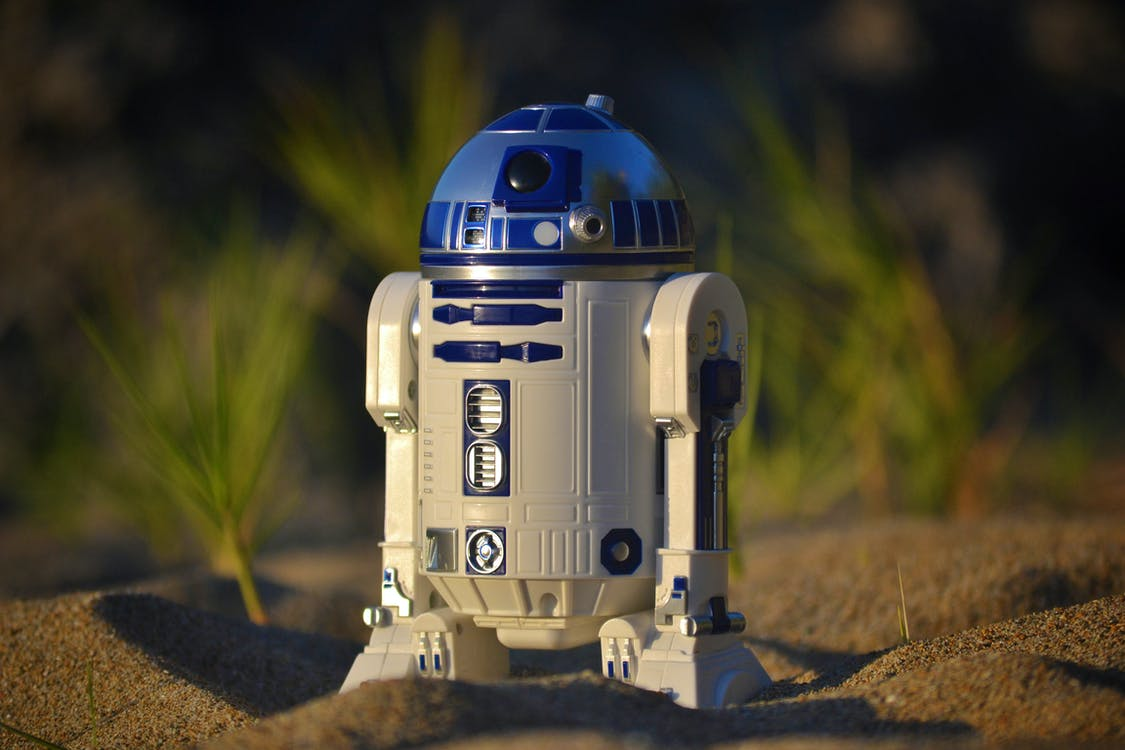 Shallow Focus Photo of R2-d2 Figure