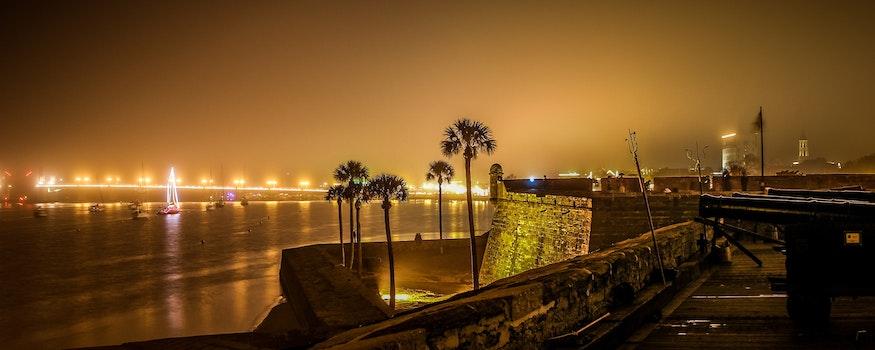Free stock photo of sea, city, dawn, landscape
