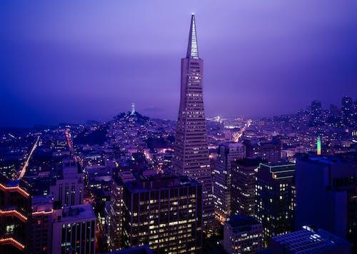 Kostenloses Stock Foto zu architektur, beleuchtung, bucht, büros