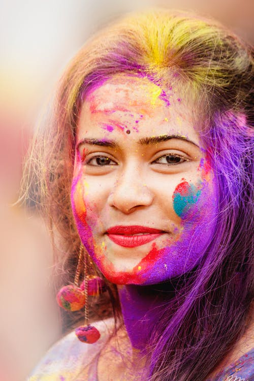 Close-Up Photo of Woman With Face Paint