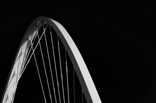 Grayscale Photography F Bicycle Rim