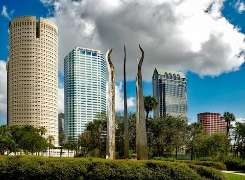 Foto profissional grátis de alto, arquitetura, arranha-céus, árvores