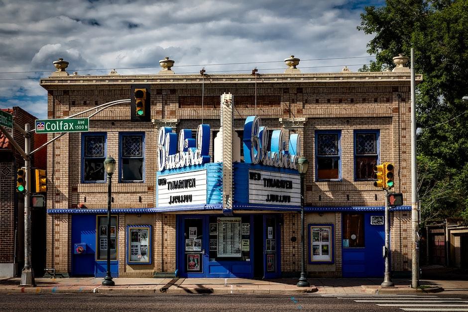 architecture, bluebird theatre, building
