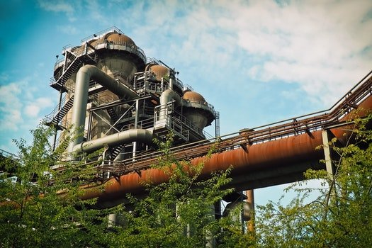 Free stock photo of clouds, industry, trees, metal