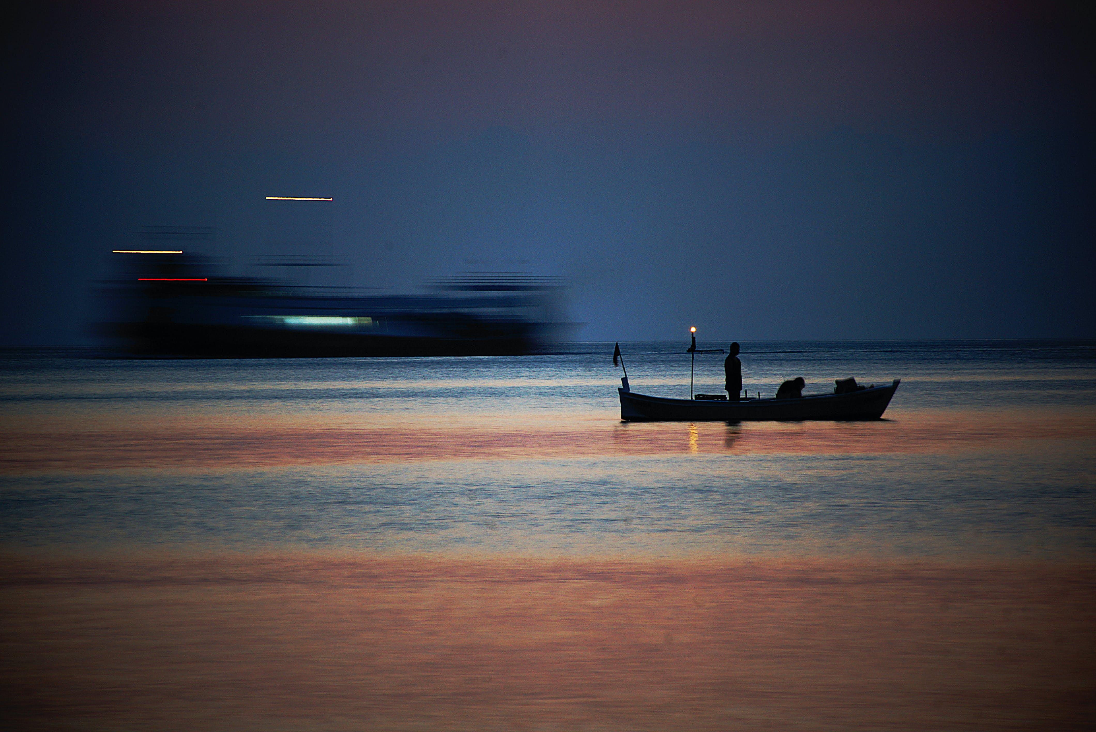 คลังภาพถ่ายฟรี ของ ตะวันลับฟ้า, ทะเล