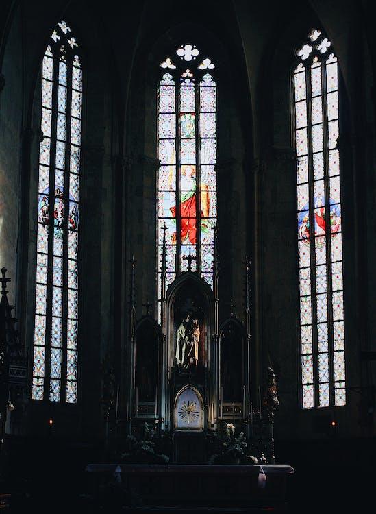 à l'intérieur, abbaye, ancien