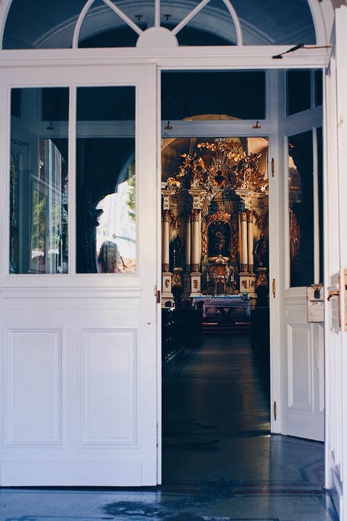 Open Door Leading to a Cathedral