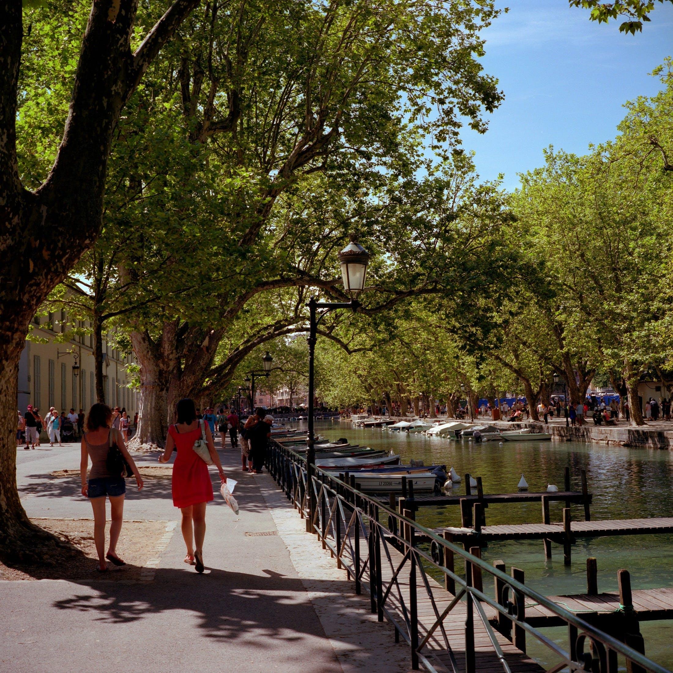 Kostnadsfri bild av arkitektur, båtar, gata, kanal