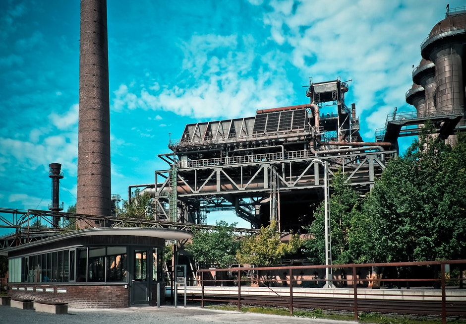 blue sky, business, chimney
