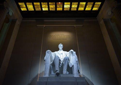 主席, 亞伯拉罕·林肯, 低角度拍攝, 光 的 免费素材照片
