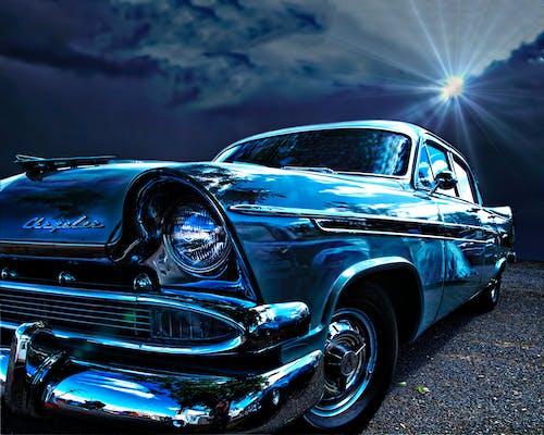 Gratis arkivbilde med bil, blå, chrysler, retro