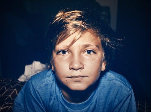 Gratis stockfoto met blauw, blauwe ogen, blond haar, jong