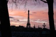 city, dawn, sky