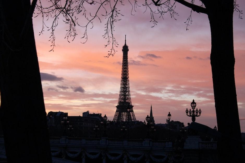 Sillhouete of Eiffel Tower