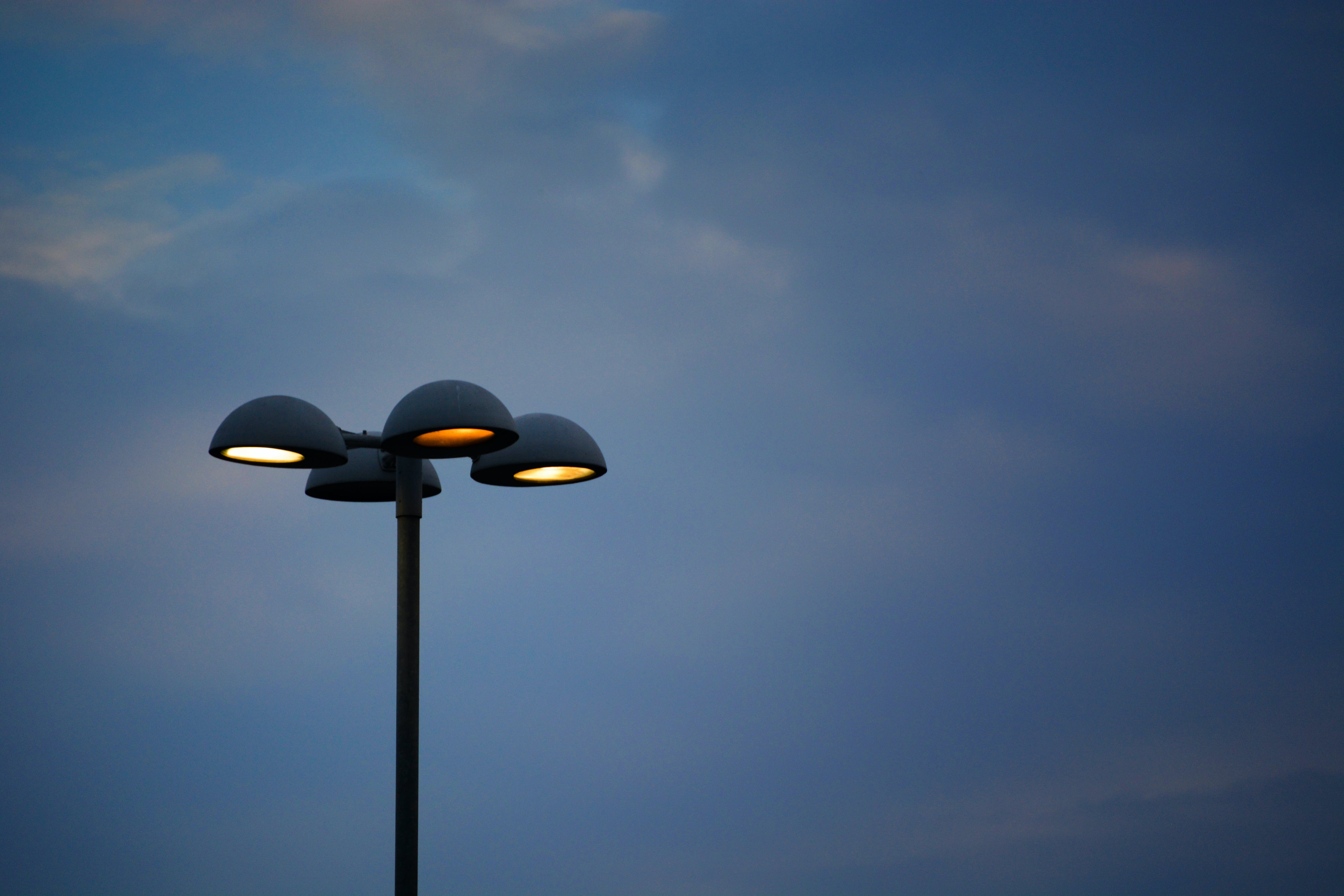 Free stock photo of blue sky, citylights, clear sky, lamp post