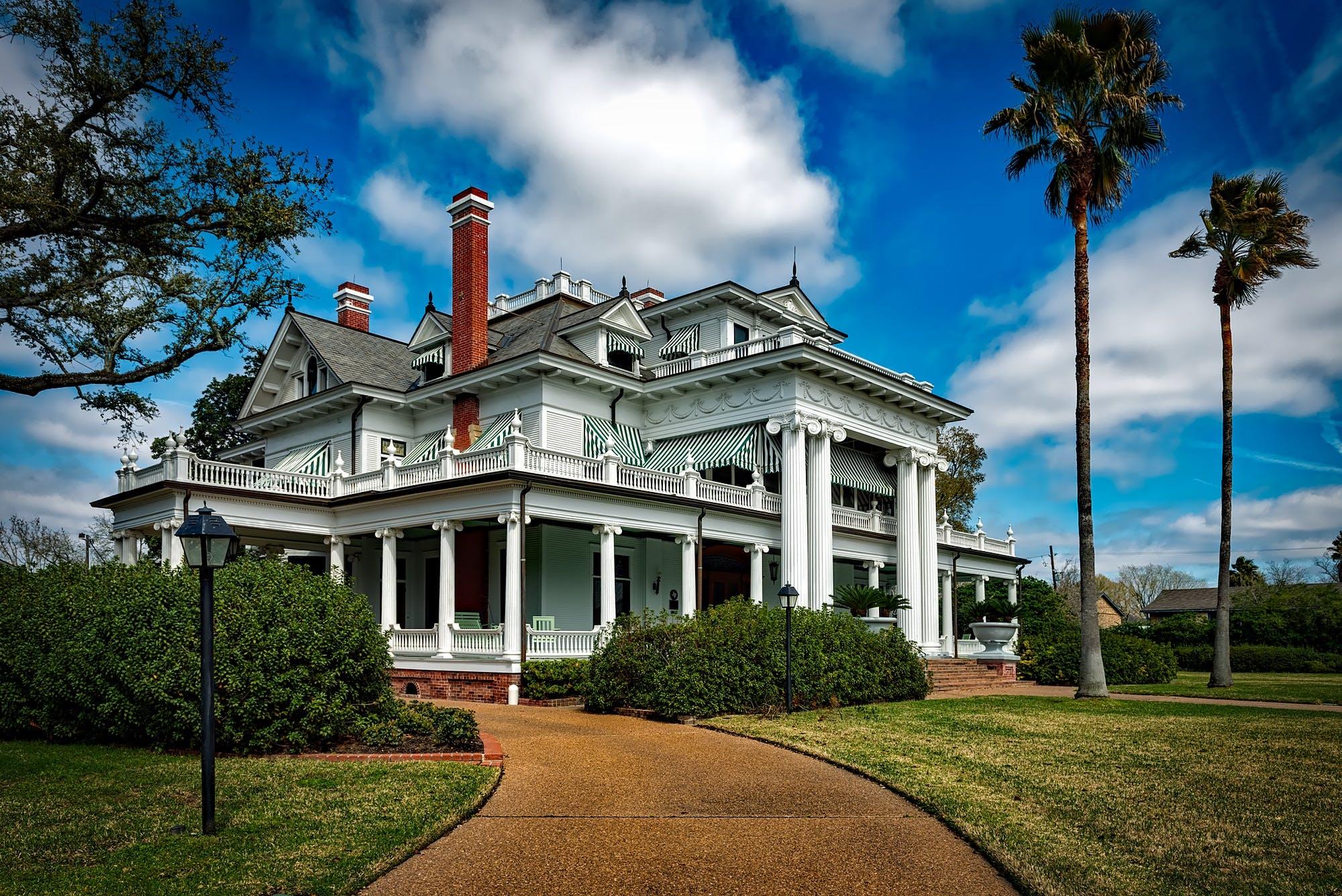 architecture, bushes, chimneys