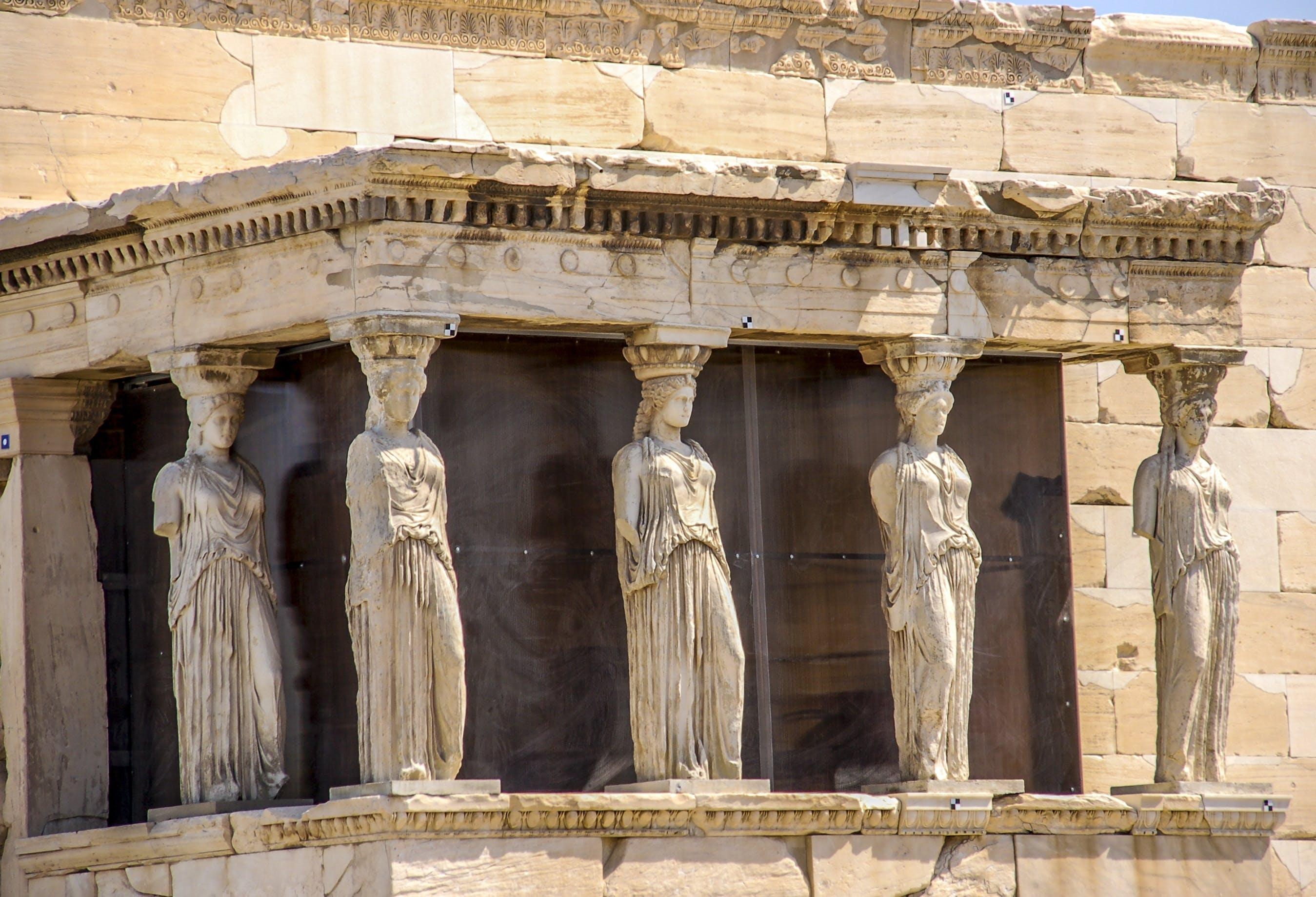 Free stock photo of acropolis, athens, caryatids, monument