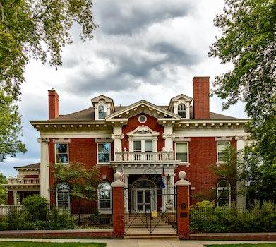 Free stock photo of landmark, building, house, lawn