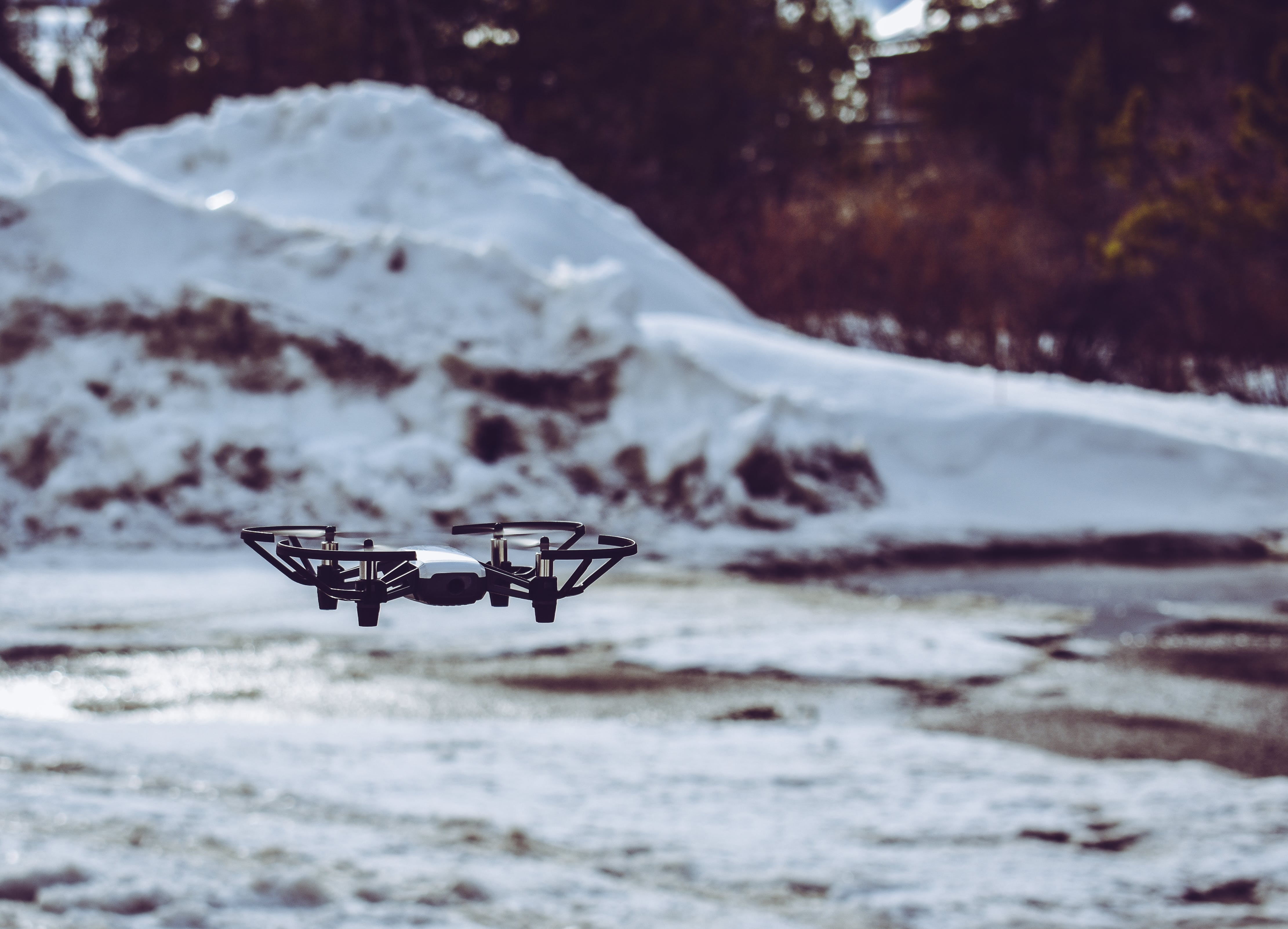 Selective Focus Photo of Drone