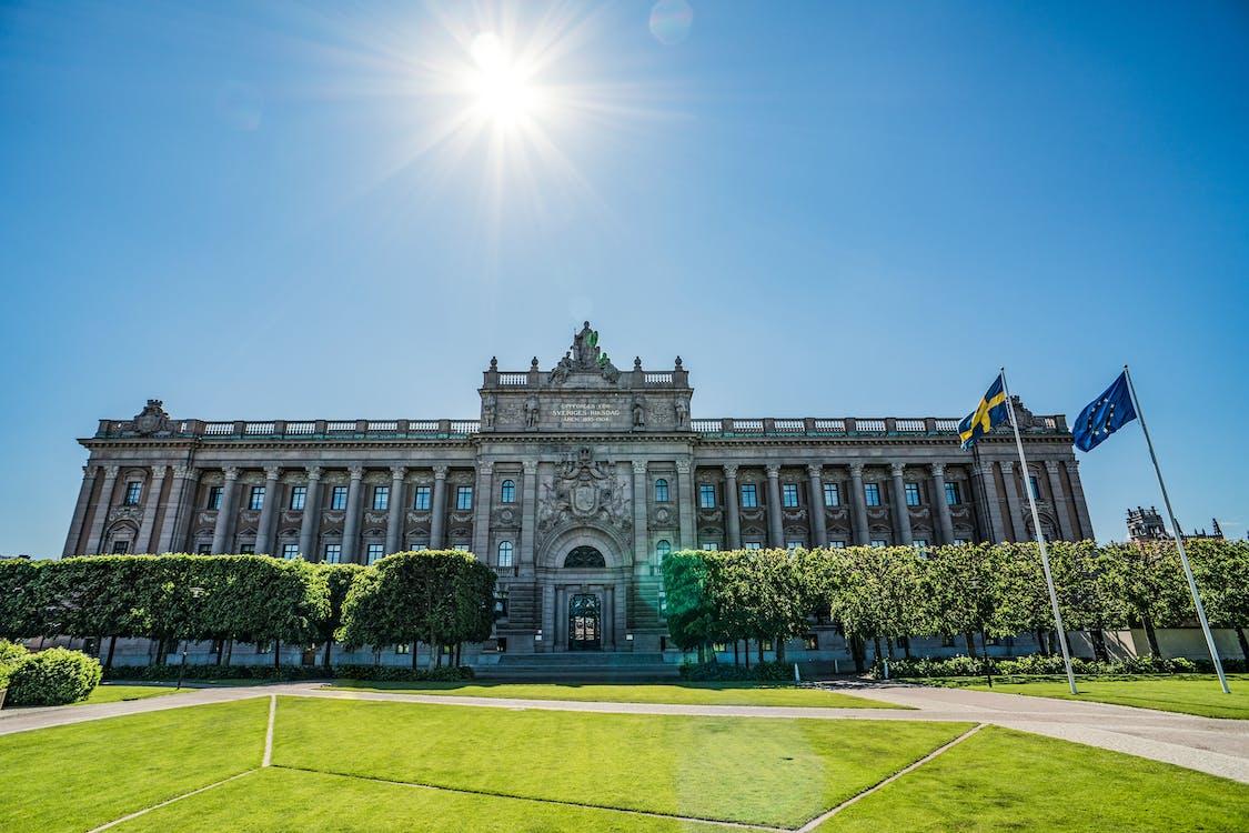 arquitectura, banderes, casa del parlament