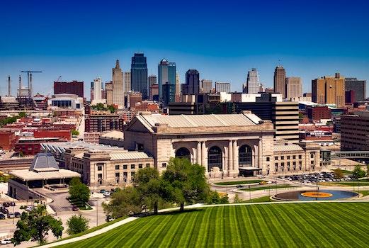 Free stock photo of city, landmark, skyline, field