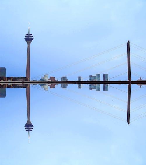 Tower and Suspension Bridge Illustration