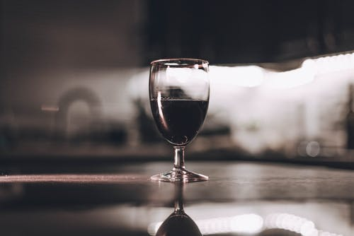 Close-Up Photo of Wine Glass