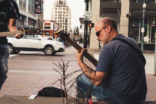 おとこ, アダルト, ギタリスト, ギターの無料の写真素材