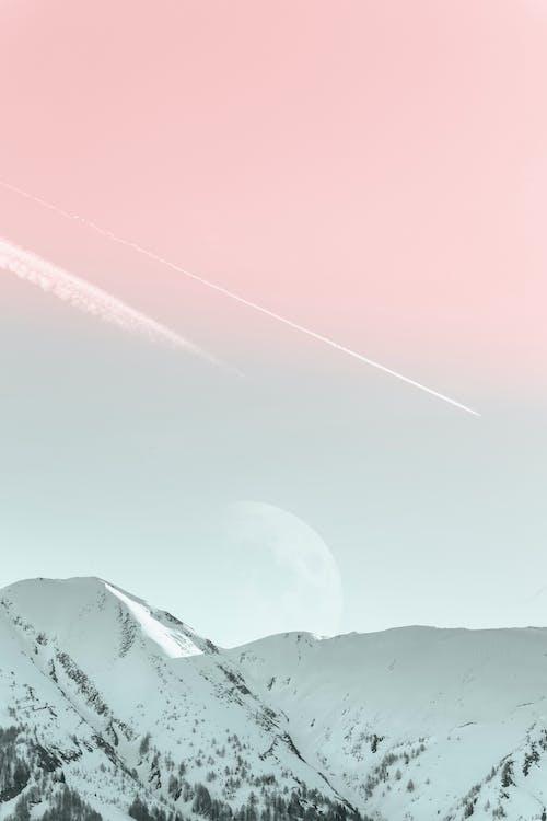 bjerg, bjergtinde, frossen